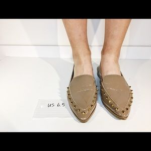 Loafer-Style Studded Flats
